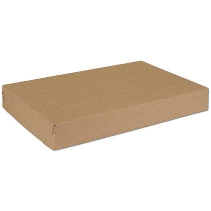 "Natural Kraft Two-Piece Expandable Boxes, 15 x 10 x 2"""