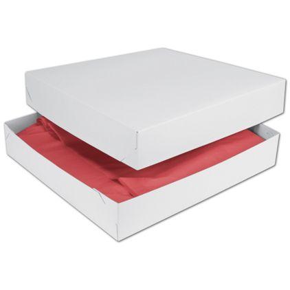 """White Two-Piece Gift Boxes, 16 x 16 x 3"""""""