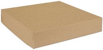 Natural Kraft Two-Piece Expandable Boxes, 16 x 16 x 3
