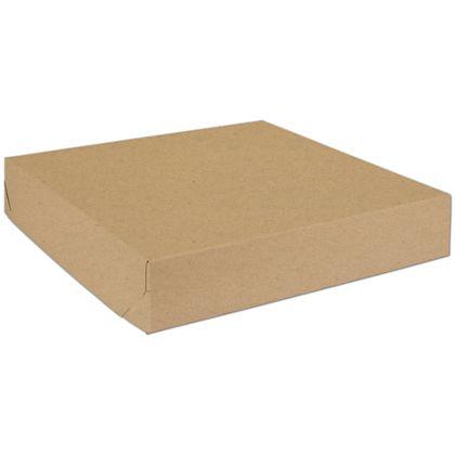"Natural Kraft Two-Piece Expandable Boxes, 16 x 16 x 3"""