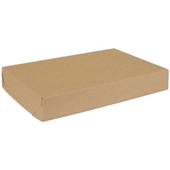 Natural Kraft Two-Piece Expandable Boxes, 17 x 11 x 2 1/2