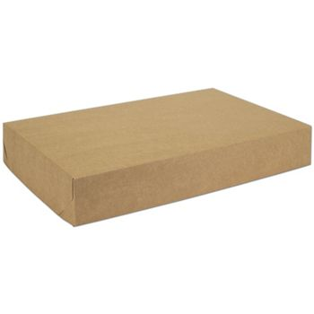 Natural Kraft Two-Piece Expandable Boxes, 19 x 12 x 3