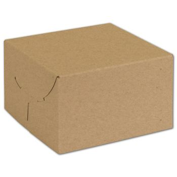 Natural Kraft Two-Piece Expandable Boxes, 6 1/2x6 1/2x4