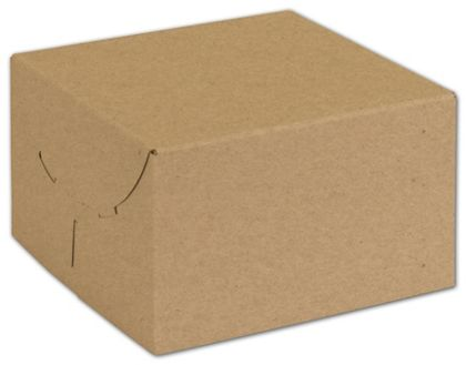 Natural Kraft Two-Piece Expandable Boxes, 6 1/2x6 1/2x4""