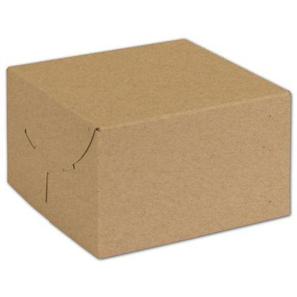 "Natural Kraft Two-Piece Expandable Boxes, 6 1/2x6 1/2x4"""