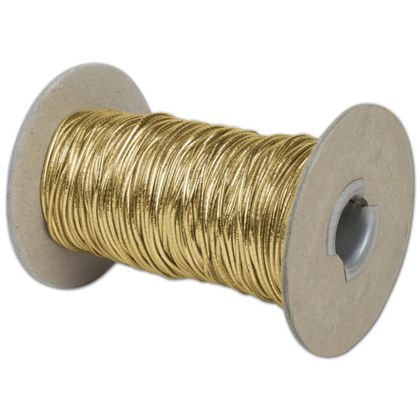 Gold Stretch Cord on Spool, 50 Yds