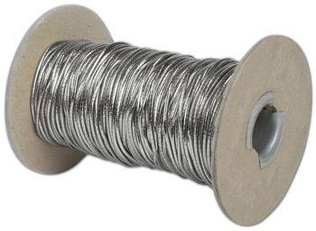 Silver Stretch Cord on Spool, 50 Yds
