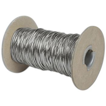 Silver Stretch Cord on Spool, 50 Yds
