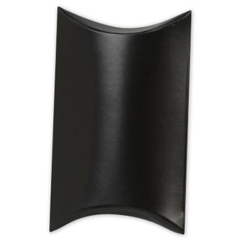 Satin Black Pillow Boxes, 3 1/2 x 3 x 1""