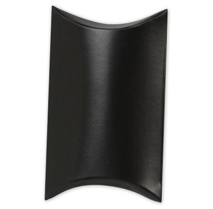 """Satin Black Pillow Boxes, 3 1/2 x 3 x 1"""""""