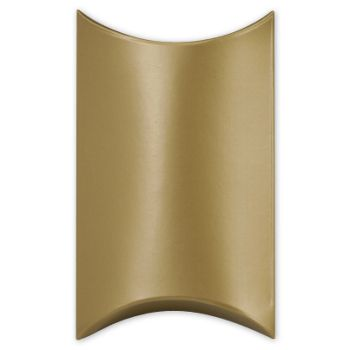 Satin Gold Pillow Boxes, 3 1/2 x 3 x 1