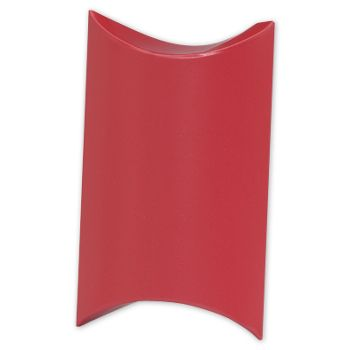 Satin Red Pillow Boxes, 3 1/2 x 3 x 1