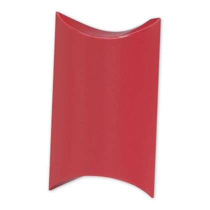 Satin Red Pillow Boxes, 3 1/2 x 3 x 1""