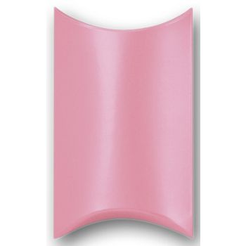 Satin Pink Pillow Boxes, 3 1/2 x 3 x 1""
