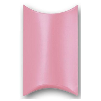 "Satin Pink Pillow Boxes, 3 1/2 x 3 x 1"""