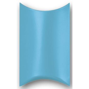 Satin Turquoise Pillow Boxes, 3 1/2 x 3 x 1""