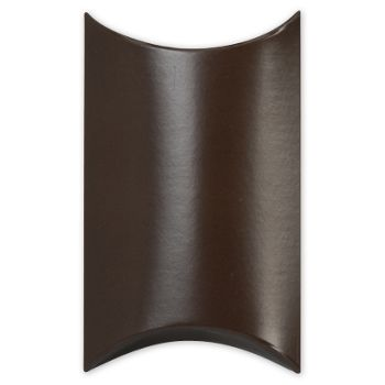 Satin Brown Pillow Boxes, 3 1/2 x 3 x 1