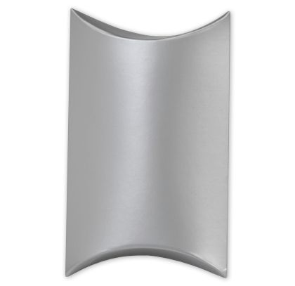 Satin Silver Pillow Boxes, 3 1/2 x 3 x 1""