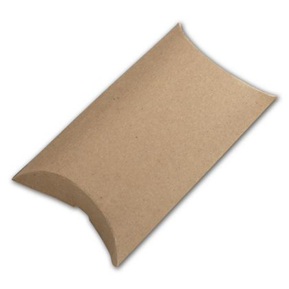 Kraft Pillow Boxes, 3 1/2 x 3 x 1""