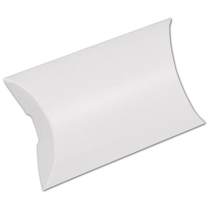 White Pillow Boxes, 3 1/2 x 3 x 1""
