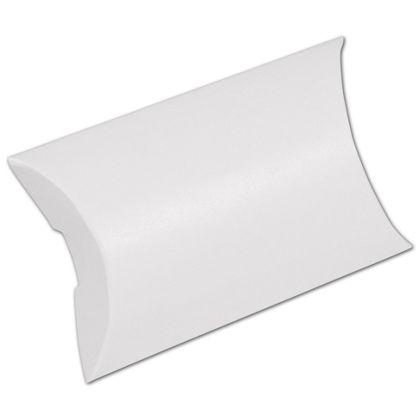 "White Pillow Boxes, 3 1/2 x 3 x 1"""