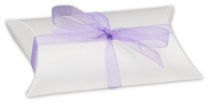 """Clear Frosted Pillow Boxes, 3 1/2 x 3 x 1"""""""