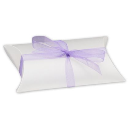 Clear Frosted Pillow Boxes, 3 1/2 x 3 x 1""