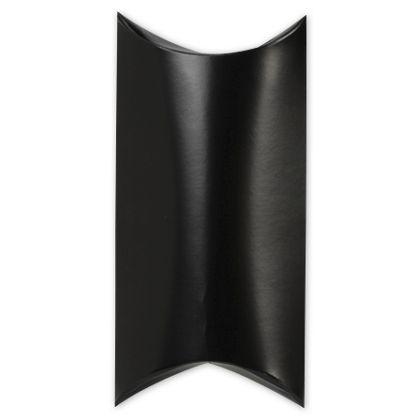 """Satin Black Pillow Boxes, 7 x 5 x 2"""""""