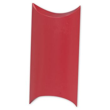 Satin Red Pillow Boxes, 7 x 5 x 2