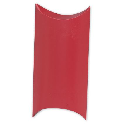 Satin Red Pillow Boxes, 7 x 5 x 2""