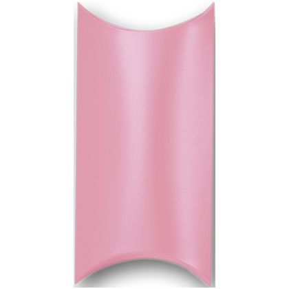 Satin Pink Pillow Boxes, 7 x 5 x 2""