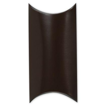 """Satin Brown Pillow Boxes, 7 x 5 x 2"""""""