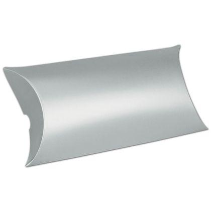 """Satin Silver Pillow Boxes, 7 x 5 x 2"""""""