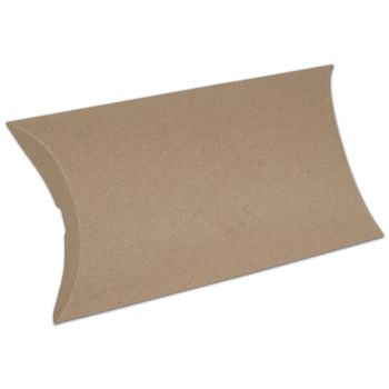 Kraft Pillow Boxes, 7 x 5 1/2 x 2