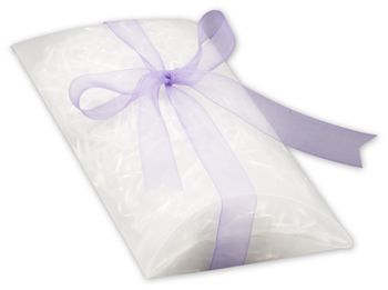 Clear Frosted Pillow Boxes, 7 x 5 1/2 x 2