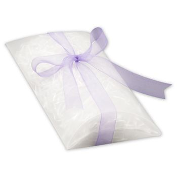 Clear Frosted Pillow Boxes, 7 x 5 1/2 x 2""