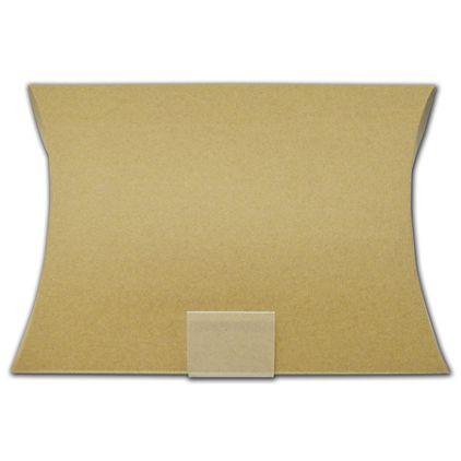 "Kraft Corrugated Pillow Boxes, 9 x 2 x 12"""