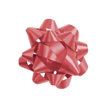 Red Jeweler's Size Star Bow, 16 Loops, 1 1/4