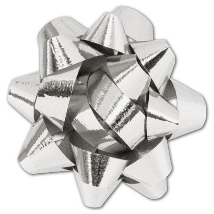 Metallic Silver Jeweler's Size Star Bow,16 Loops,1 1/4