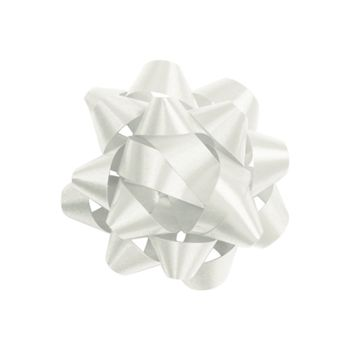 White Jeweler's Size Star Bow, 16 Loops, 1 1/4