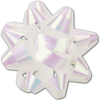 Iridescent Jeweler's Size Star Bow, 16 Loops, 1 1/4