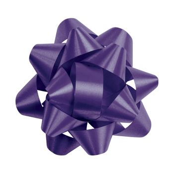 Purple Splendorette Star Bows, 14 Loops, 2 3/4