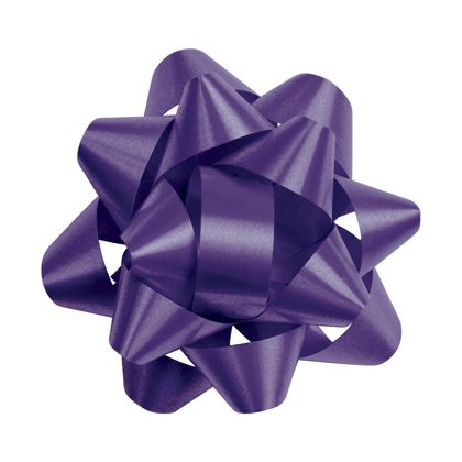 Purple Splendorette Star Bows, 14 Loops, 2 3/4""