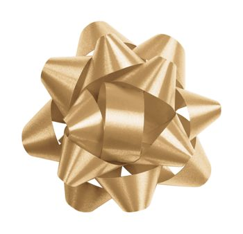 Gold Splendorette Star Bows, 14 Loops, 2 3/4