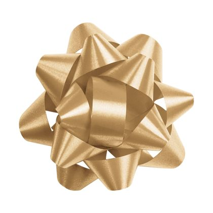 Gold Splendorette Star Bows, 14 Loops, 2 3/4""