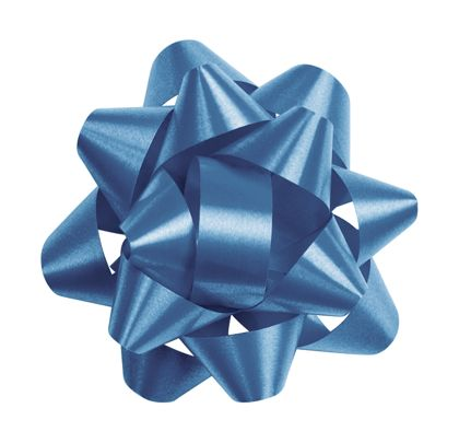 Royal Blue Splendorette Star Bows, 14 Loops, 2 3/4""