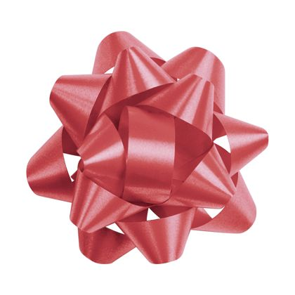 Red Splendorette Star Bows, 14 Loops, 2 3/4""