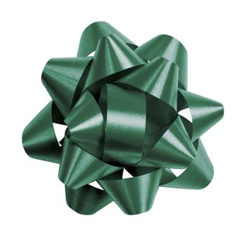 Hunter Green Splendorette Star Bows, 14 Loops, 2 3/4