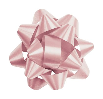 Light Pink Splendorette Star Bows, 14 Loops, 2 3/4""