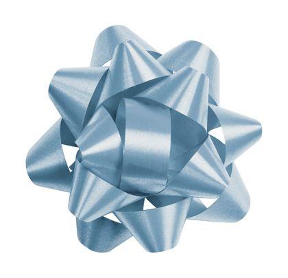"""Light Blue Splendorette Star Bows, 14 Loops, 2 3/4"""""""
